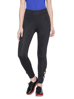 Tuna London Black Tight Fit Leggings