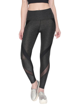 Tuna London Dark Grey High Waist Leggings