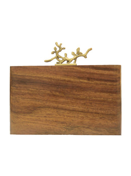 Crafted Wooden Clutch with Branch Knob