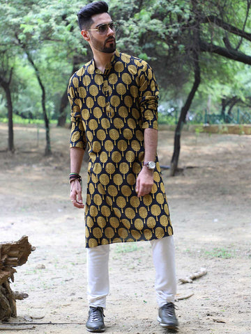 Mughal Tree Print Kurta with Churidaar