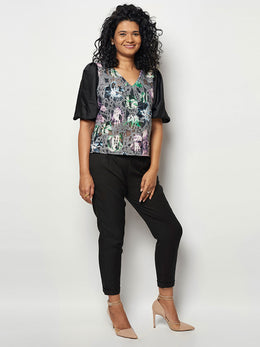 Autumn Printed Neoprene Top