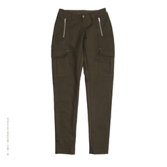 Cotton Cargo Pants Army Green by Mothers enVogue