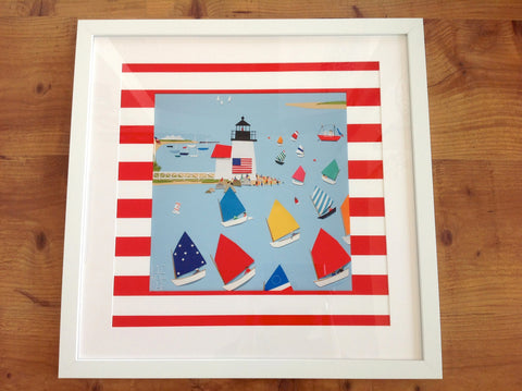 Rainbow Fleet Parade Giclee framed print