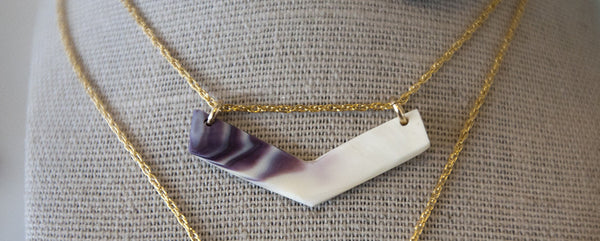 Necklace {Quahog Chevron}