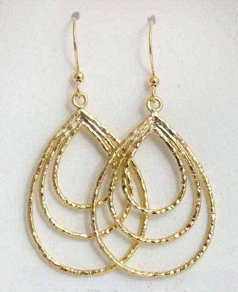 Earring {Hammered Teardrops}