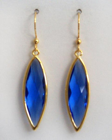 Earring {Framed Navette Drop}