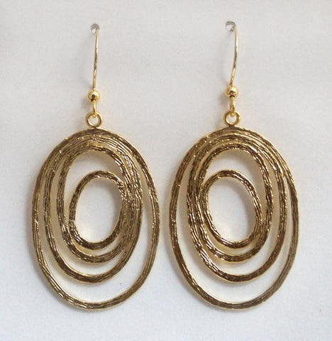 Earring {Abstract Oval Drops}