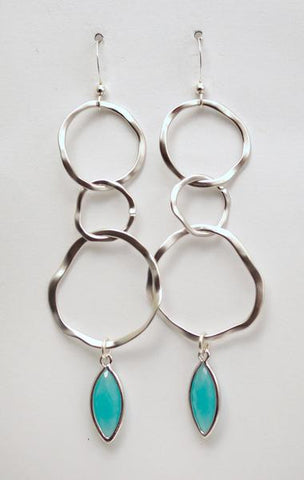 Earring {Hammered Ring Drop}