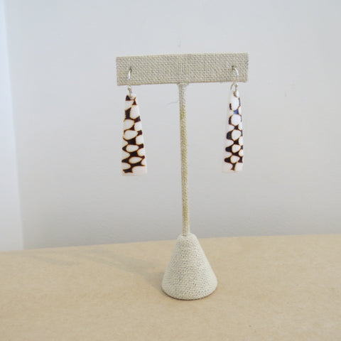 Earring {Medium Marble Cone Shell}