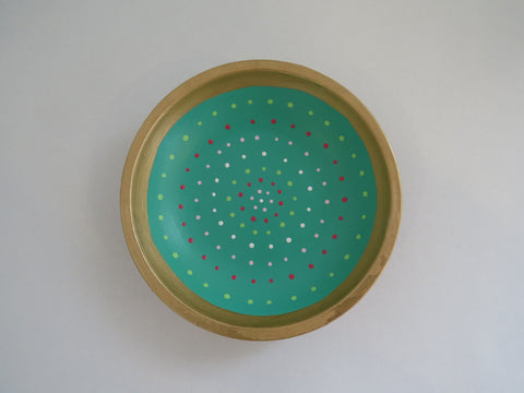 Mixed Media Dot Bowl