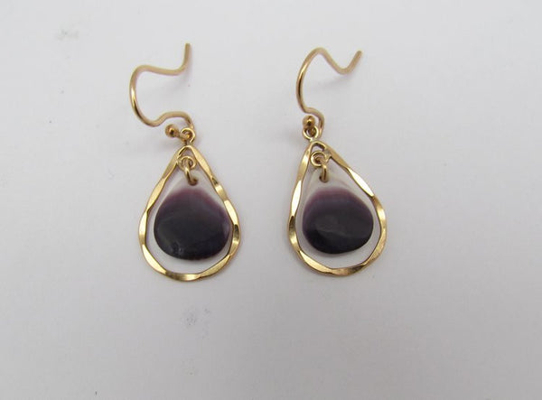 Earring {Small Luxe Tears Quahog Gold}