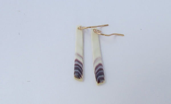 Earring {Small Quahog Rectangles}