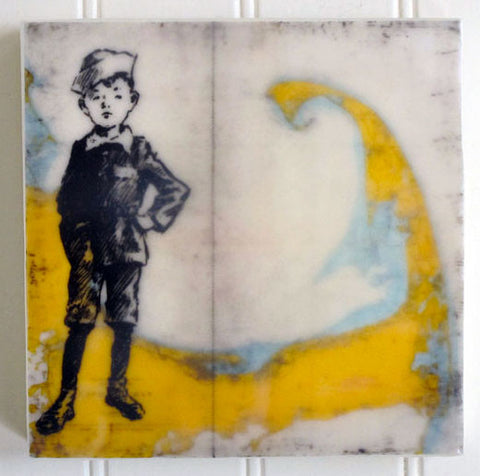 {Wax Encaustic Mini} Cape Boy