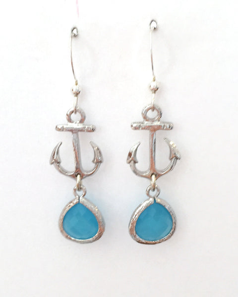 Earrings {Anchor/Blue}