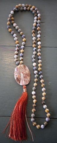 Necklace {jasper mala}
