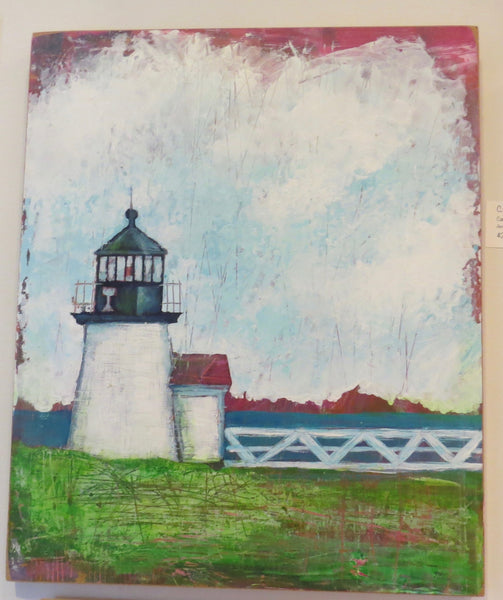 Painting {Brant Point Lighthouse}