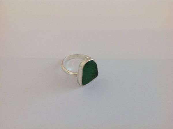 Sea Glass Silver Ring 60