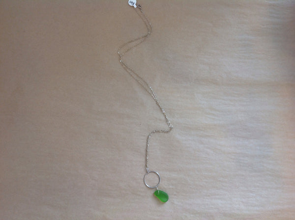 Necklace {with Sea Glass Pendant Green}