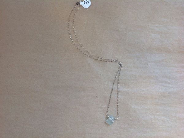 Necklace {with Sea Glass Pendant}