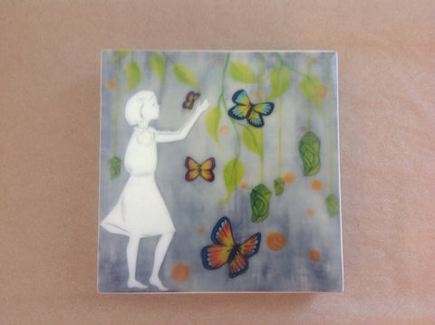 {Wax Encaustic Mini} Butterflies