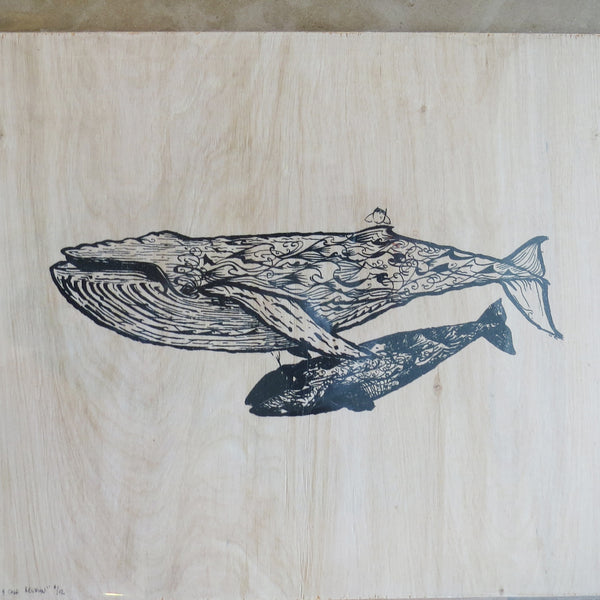 Mother and Calf on Wood {Limited Edition Print}