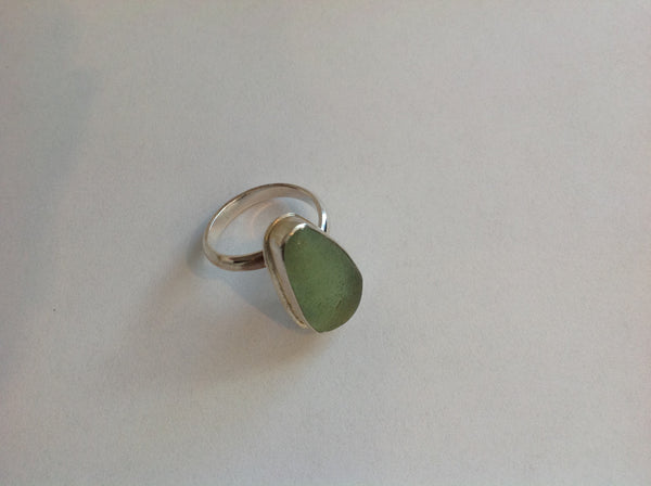 Sea Glass Silver Ring 78