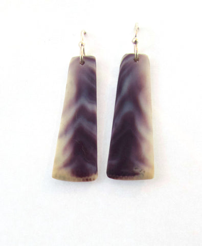 Earrings {Wampum Rectangle Small}