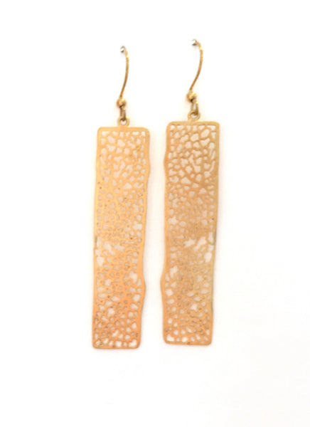 Earring {Gold Rectangle}