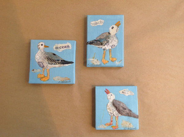 Painting {Torn Paper Seagull Minis}