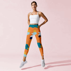 Orange Squash Leggings