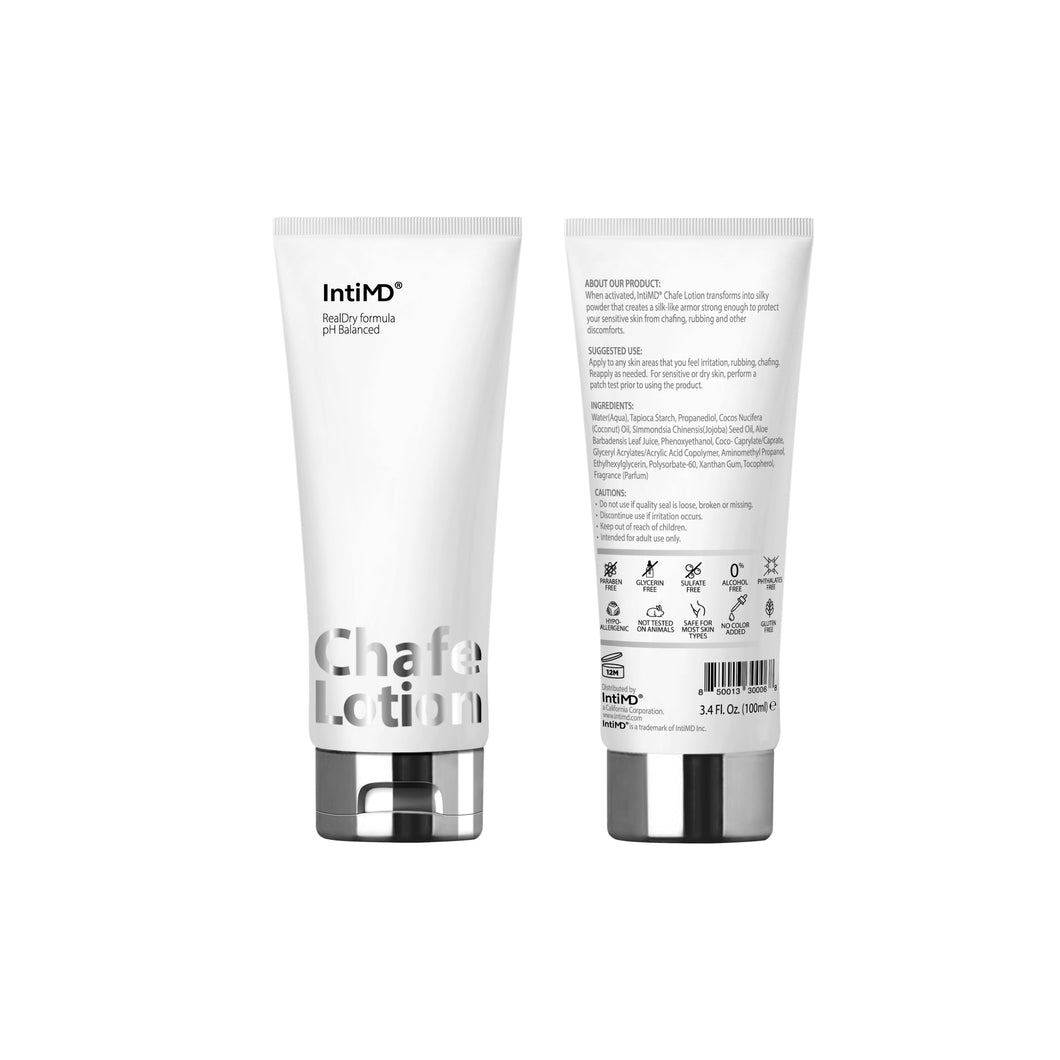 ** PRE-ORDER ** IntiMD Chafe Lotion with RealDry Formula 3.4 Oz.