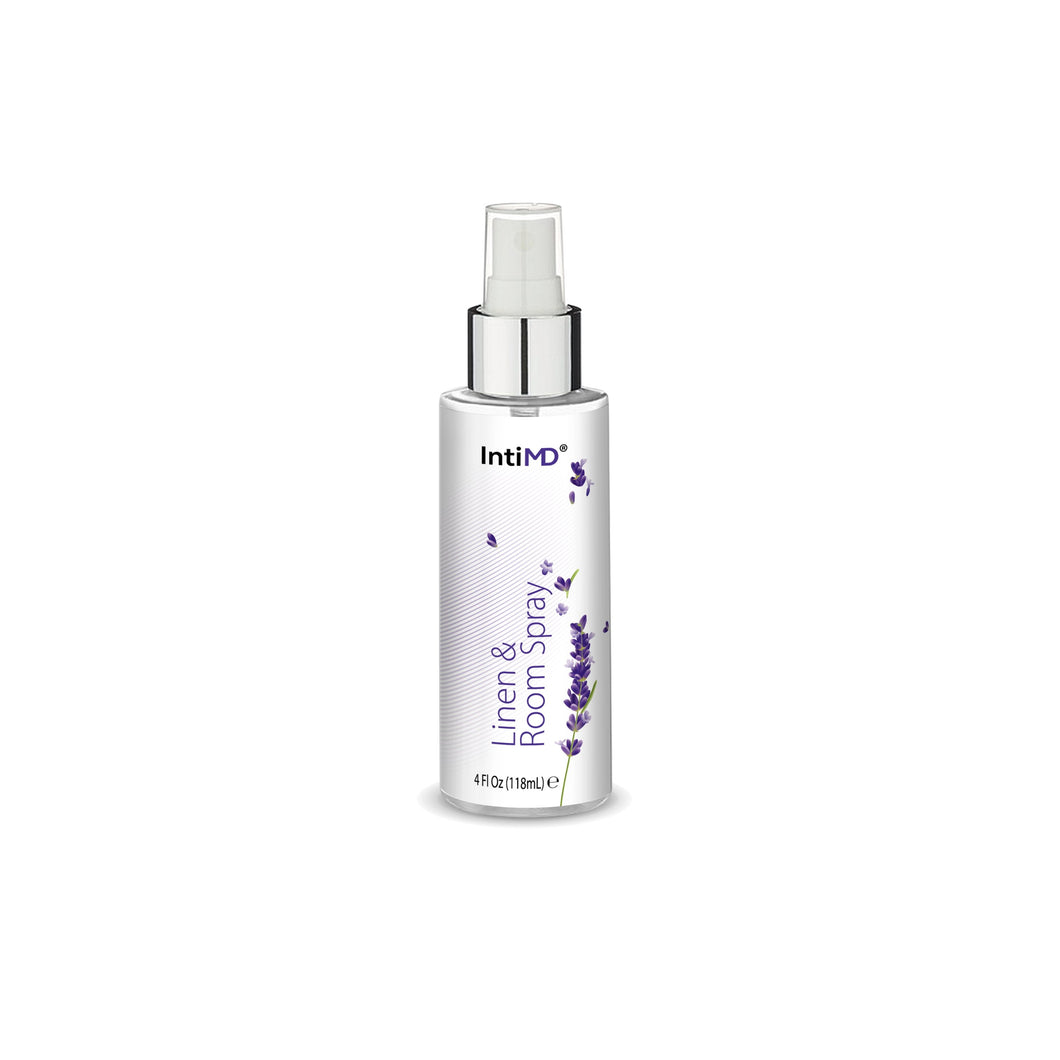 IntiMD Linen & Room Spray Lavender Scent for any Fabric, Room and Space, Alcohol Free, 4 Oz.