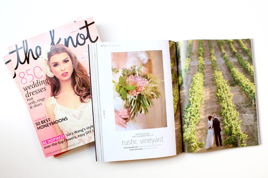 Lupa & Pepi wedding in The Knot Magazine Summer 2014