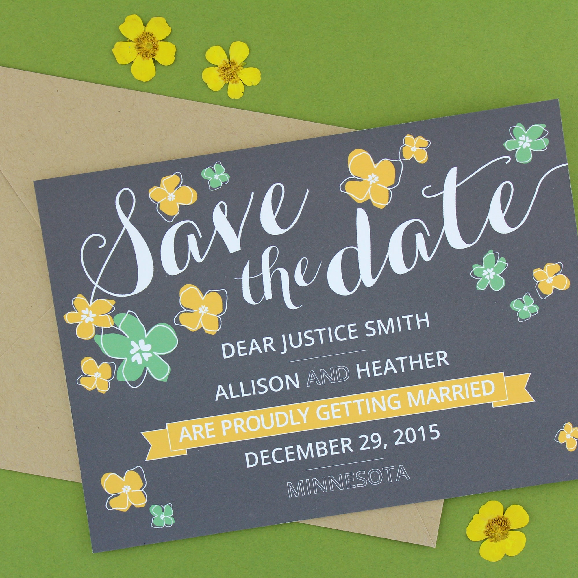 Supreme Save the Date: Petalo / Designed by Lupa and Pepi for Tie the Knot.org
