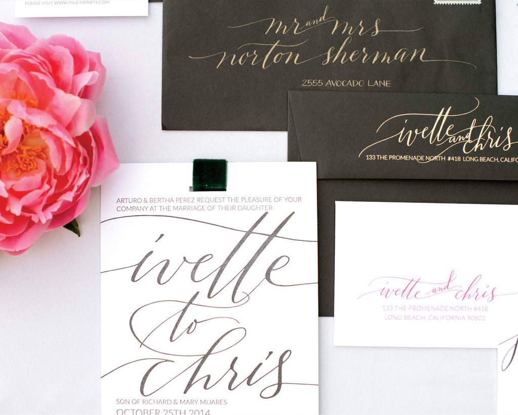 Ivette & Chris Wedding Invitation Suite