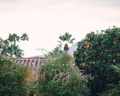 Moroccan-Themed Palm Springs Wedding Best Day Ever Sign