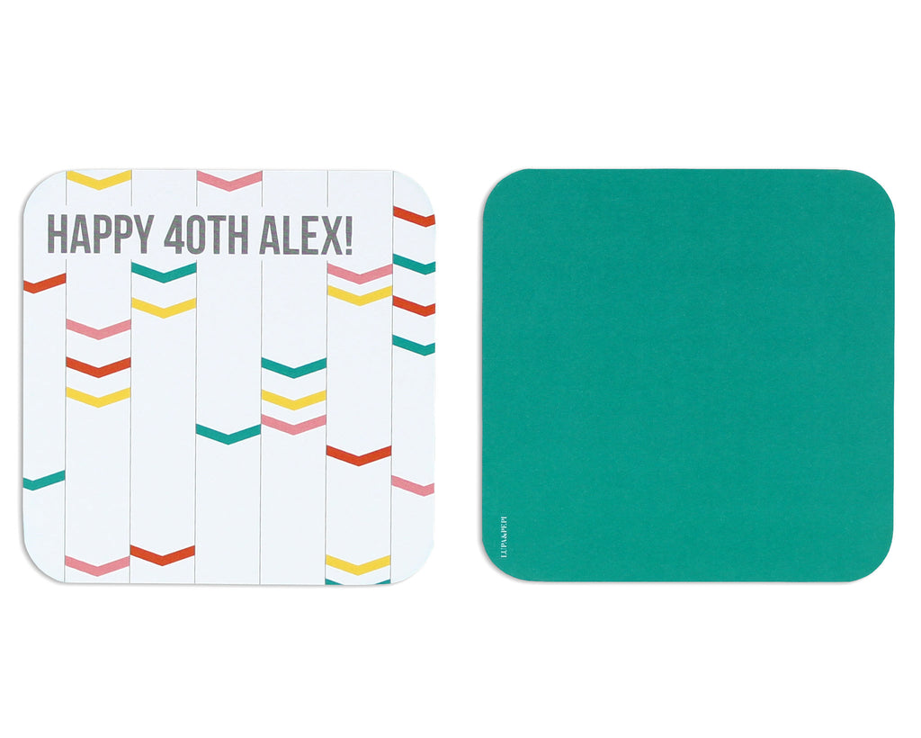 Archetto Personalized Coaster Front and Back