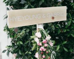 Fresh & Colorful Lombardi House Wedding Name Sign