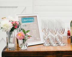 Fresh & Colorful Lombardi House Wedding Bar Menu