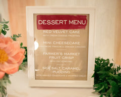 Fresh & Colorful Lombardi House Wedding Dessert Menu