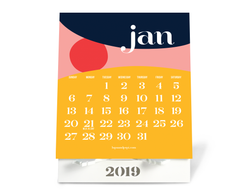January 2019 Lupa and Pepi Desktop Calendar