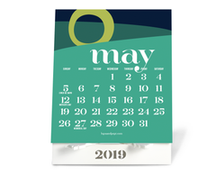 May 2019 Lupa and Pepi Desktop Calendar