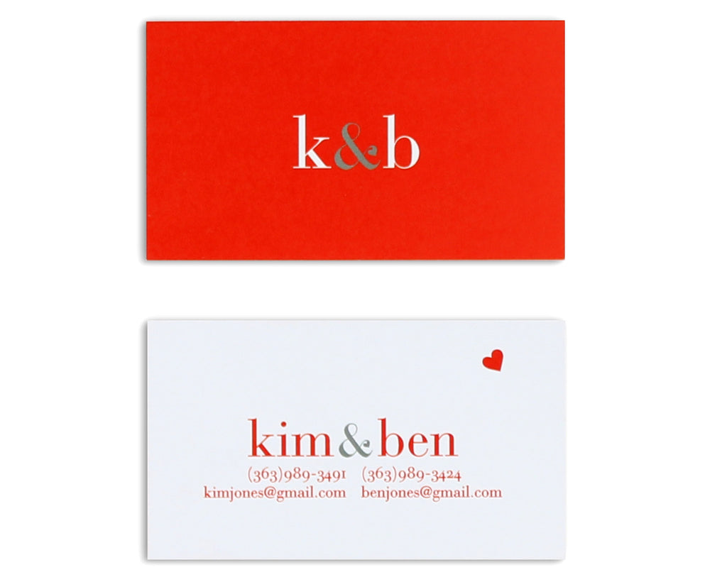 Classico Couple Monogram Business Card – Lupa & Pepi