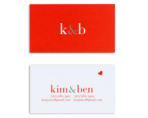Classico Couple Monogram Business Card