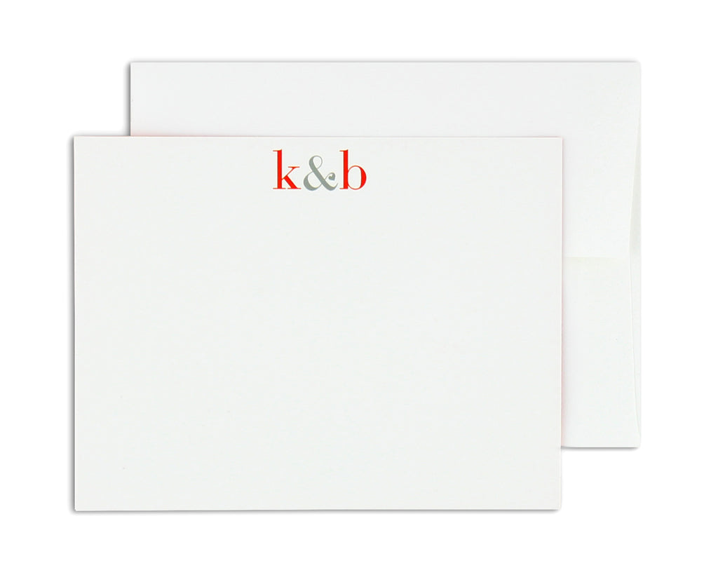 Classico Personalized Notecard Front with Envelope