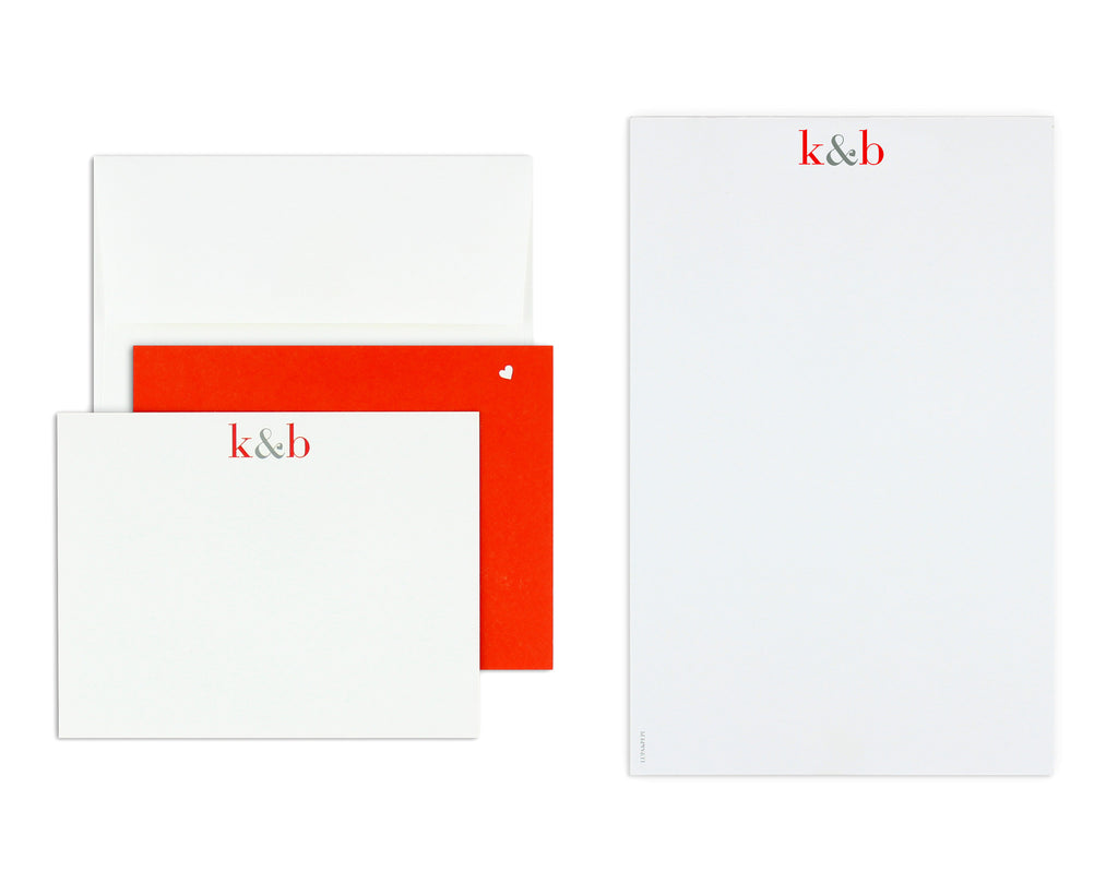 Classico Personalized Notecard Back with Envelope and Notepad