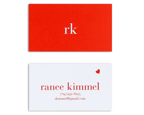 Classico Monogram Business Card