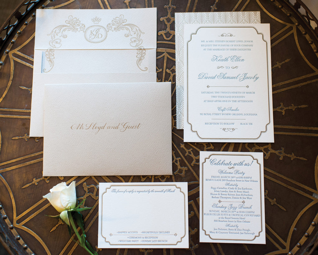New Orleans Art Deco Invitation Suite