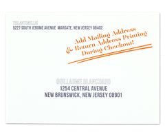 Fa La La Holiday Card Envelope Return & Mailing Address