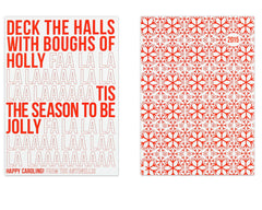 Fa La La Holiday Card Front and Back
